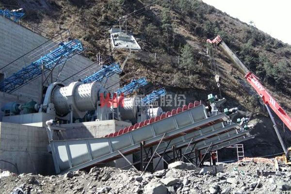 砂石骨料生产线-两河口项目现场